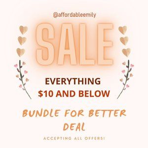 BUNDLE AND ILL SEND AN OFFER WITH 25% OFF